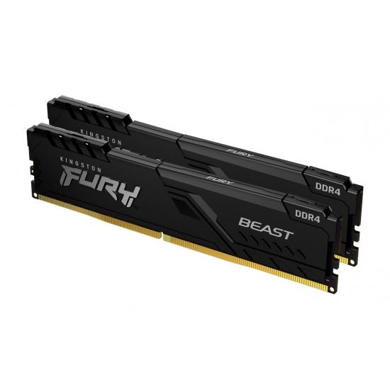 Kingston 64GB(32GBx2) DDR4 3600MHz (PC4-28800) CL18 DIMM FURY Beast ブラック|KF436C18BBK2/64