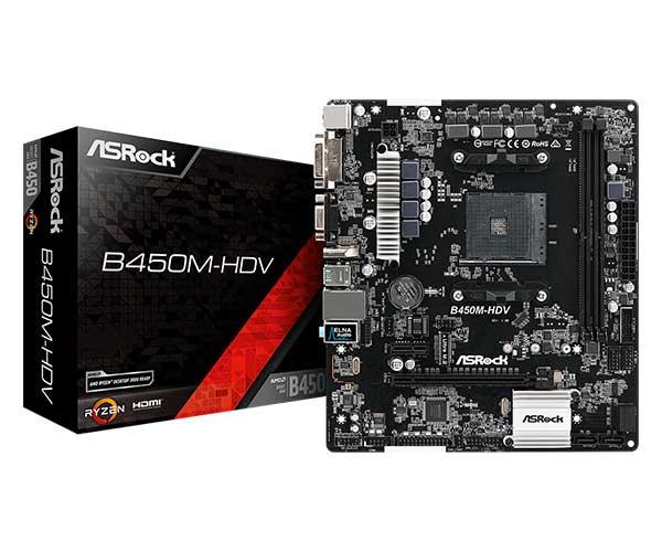 ASRock B450M-HDV D-Sub端子搭載 MicroATXマザーボード