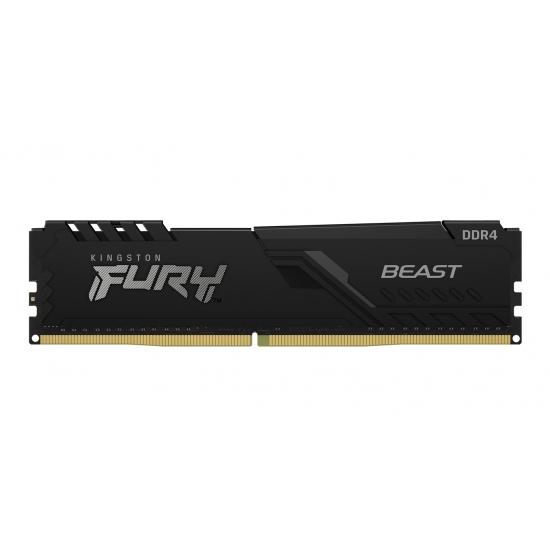 Kingston 16GB(16GBx1) DDR4 3733MHz (PC4-29800) CL19 DIMM 1Gx8 FURY Beast ブラック KF437C19BB1/16