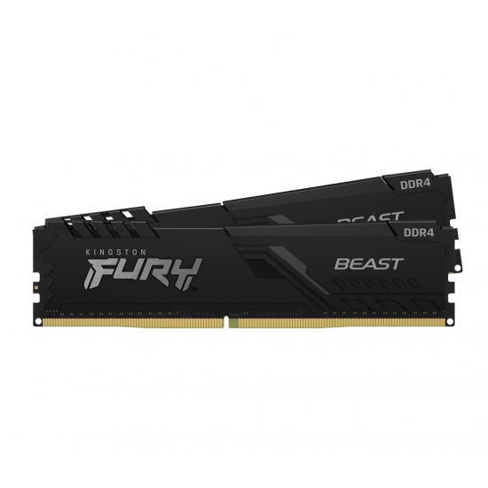 Kingston 32GB(16GBx2) DDR4 3733MHz (PC4-29800) CL19 DIMM 1Gx8 FURY Beast ブラック|KF437C19BB1K2/32