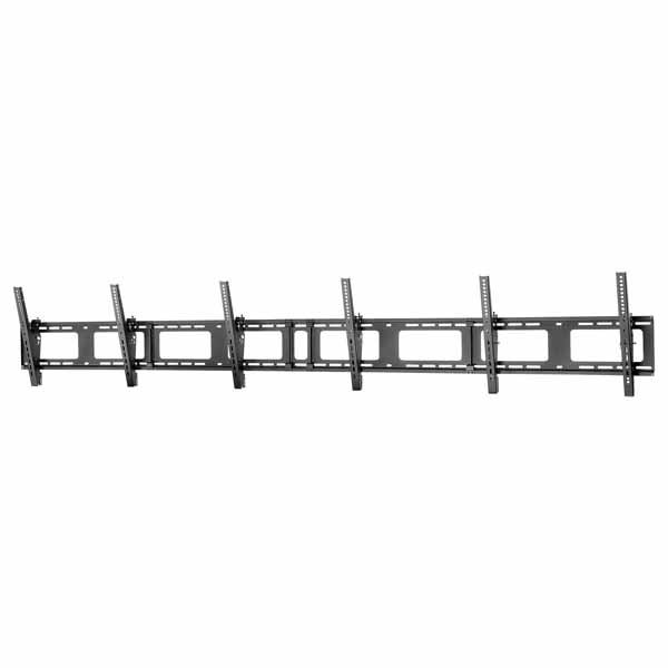 StarTech 薄型液晶テレビ壁掛け金具 ディスプレイ3台対応 40-50インチVESAマウント規格対応 5段階チルト設定|FPWMNB