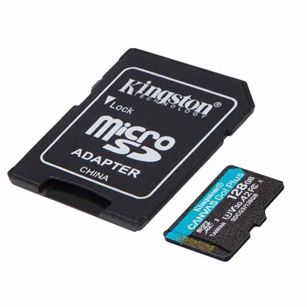 Kingston 128GB microSDXC Canvas Go! Plus microSDメモリカード 170R A2 U3 V30 Card + SDアダプタ SDCG3/128GB