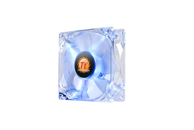 Thermaltake 低ノイズ、長寿命設計の冷却ファン 8cm Pure 8 LED Blue (CL-F029-PL08BU-A)