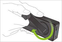 Eton(イートン) BoostTurbine 2000mAh/198g 手回しモバイルバッテリー 並行輸入品 iPhone (NBOTU2000B)