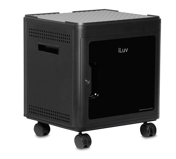 iLuv 同時に10台のiPadを急速充電 ビジネス学校での管理に SMART Multi Charger-X for 10 Bay Charge and sync システム for iPad lightning pin bundle|iAD910LPEBK