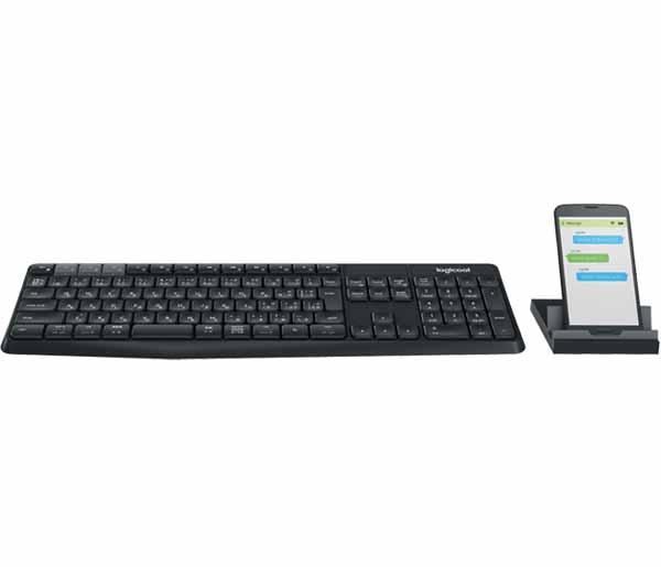 ロジクール マルチデバイス ワイヤレス キーボード&スタンド セットモデル ブラック / ダークグレー|K375S