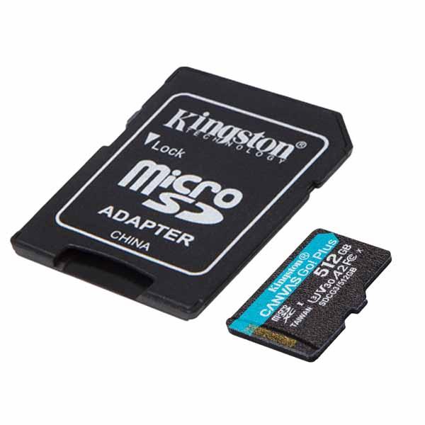 Kingston 512GB microSDXC Canvas Go! Plus microSDメモリカード 170R A2 U3 V30 Card + SDアダプタ SDCG3/512GB