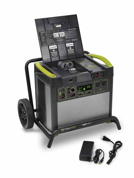 Goal Zero Yeti Lithium 3000 WiFi (120V) Power Station 大容量3,075Whリチウムイオン電池搭載 ポータブル電源|38400