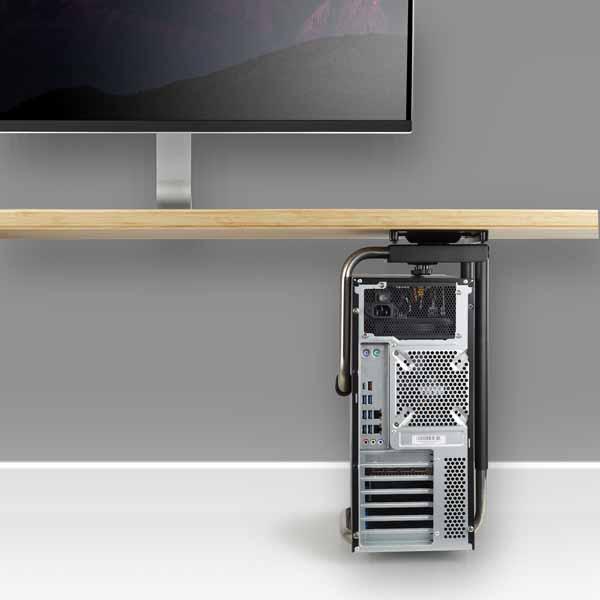 StarTech スライダー式CPUホルダー デスク天板裏に取付け スライド&360度回転機構 タワー型デスクトップパソコンを装着|CPUMNTUD
