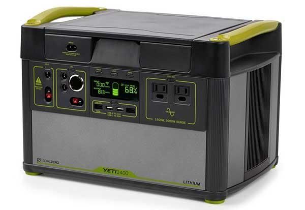Goal Zero Yeti Lithium 1400 WiFi (120V) Power Station 大容量1,425Whリチウムイオン電池搭載 ポータブル電源|38300