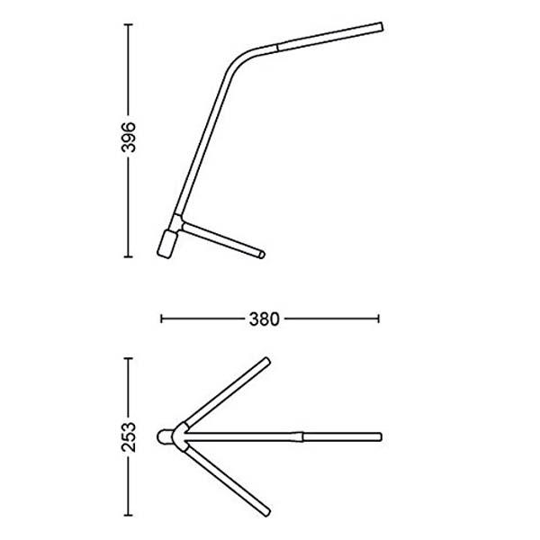 Philips デスクライト Geometry (ジオメトリー) アンスラサイト/グレー|915005476901