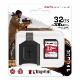 Kingston 32GB Canvas React Plus SDHC メモリカード 300R/260W UHS-II + MLP SDリーダー MLPR2/32GB