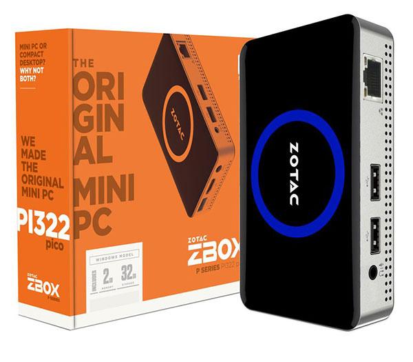 ZOTAC/PCP ZBOX PI322 pico Windows 10 Home|ZBOX-PI322-W2B