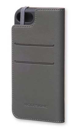 【クリアランス特価】Moleskine CLASSIC ORIGINAL BOOKTYPE CASE iPhone7/iPhone8 グレー 手帳ケース|MO1CBP7A1