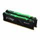 Kingston 32GB(16GBx2) DDR4 2666MHz (PC4-21300) CL16 DIMM FURY Beast RGB|KF426C16BBAK2/32