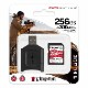 Kingston 256GB Canvas React Plus SDXC メモリカード 300R/260W UHS-II + MLP SDリーダー MLPR2/256GB
