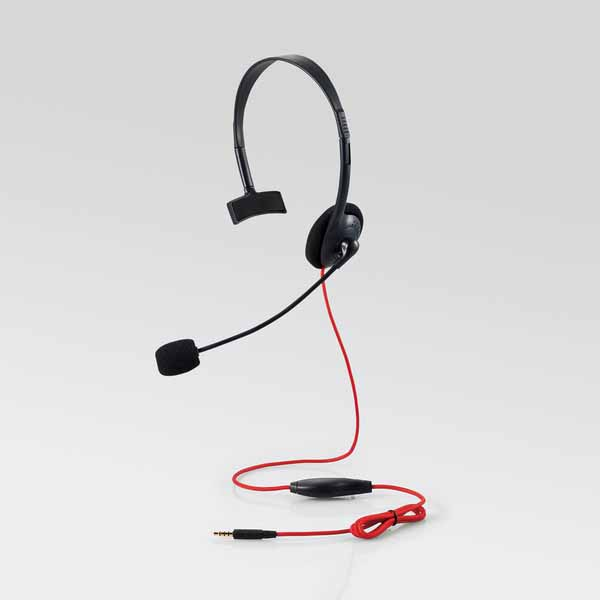 ELECOM PS4/Switch対応 片耳ゲーミングヘッドセット|HS-GM10BK