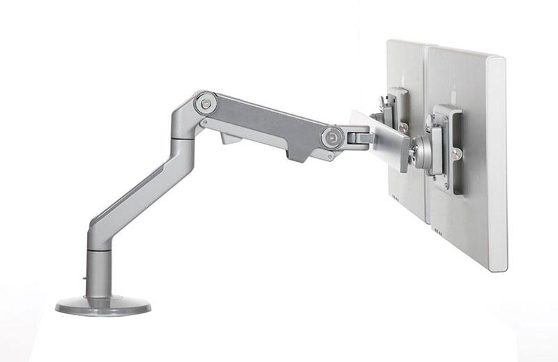 Humanscale M8 Monitor Arm With Crossbar 水平垂直可動式のモニターアーム 2台取付可 M8-C-SL