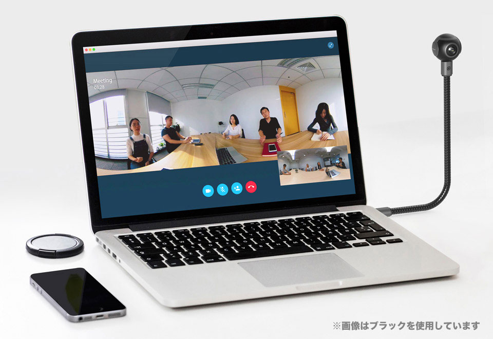 Arashi Vision Insta360 Air Micro USB ホワイト 360度ビデオカメラ CINMAIR/B/WHITE