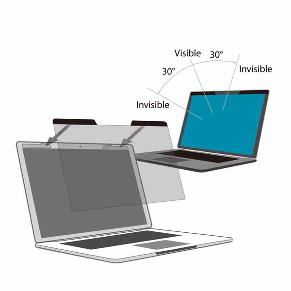 StarTech 覗き見防止プライバシーフィルター 15インチノートパソコン用 光沢&艶なし加工面 ブルーライトをカット 左右30度の視野角|PRIVSCNLT15