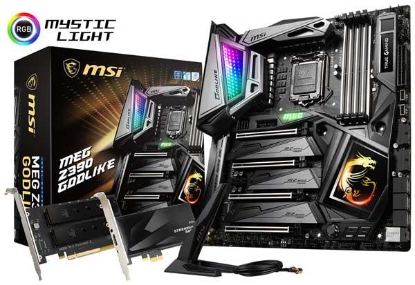MSI MEG Z390 GODLIKE Intel Z390チップセット搭載。究極のゲーミング性能とハイパフォーマンス設計を採用するハイエンドPC向けのExtended ATXマザーボード MEG Z390 GODLIKE