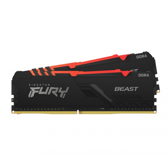 Kingston 16GB(8GBx2) DDR4 3000MHz (PC4-24000) CL15 DIMM FURY Beast RGB KF430C15BBAK2/16