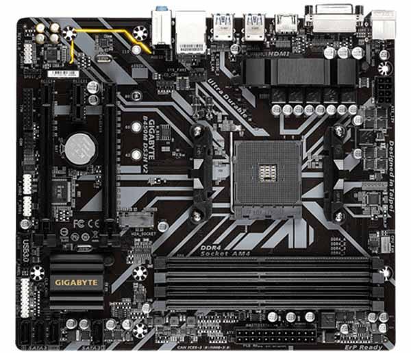GIGABYTE B450M DS3H V2 MicroATXマザーボード