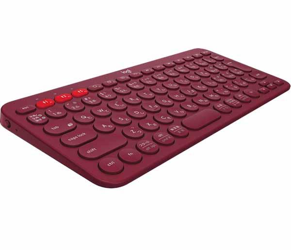 ロジクール K380 マルチデバイス Bluetooth キーボード レッド|K380RD