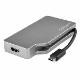 StarTech USB Type-C専用マルチディスプレイアダプター スペースグレー 4イン1 USB-C接続マルチ変換アダプター VGA/ DVI/ HDMI/ mDP 4つのビデオ出力に対応 4K対応 CDPVDHDMDPSG