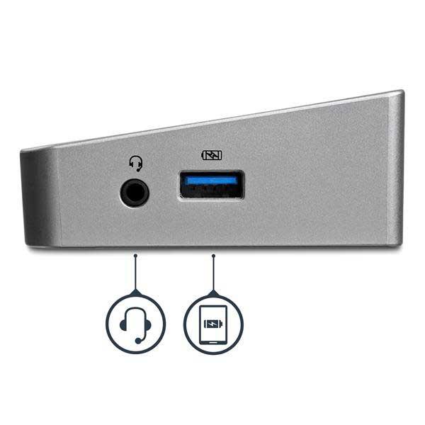 StarTech モニター3台接続対応ノートパソコンドッキングステーション USB 3.0接続 2x DisplayPort/1x HDMI|USB3DOCKH2DP