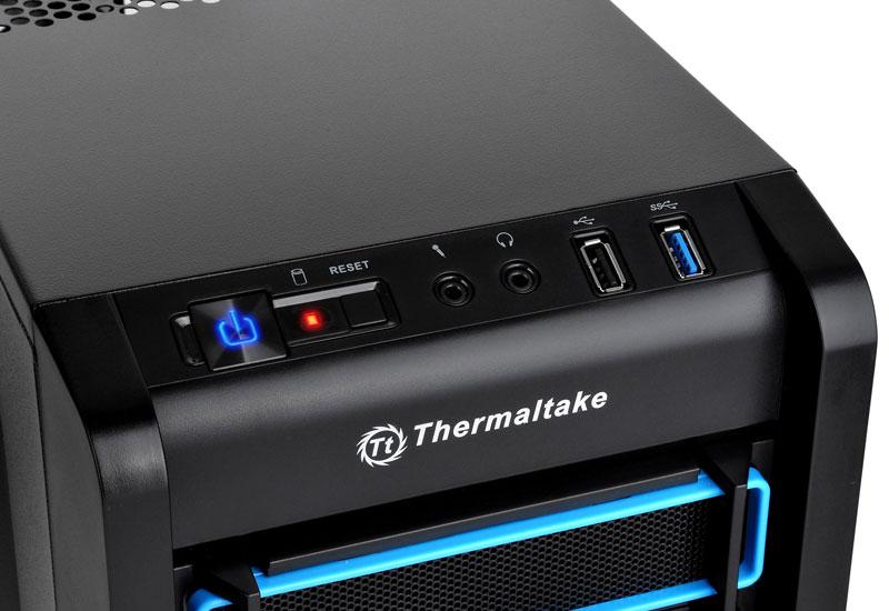 Thermaltake Chaser A21/Black/Win/SECC ツールフリー設計の ミドルタワー型PCケース  (CA-1A3-00M1WN-01)