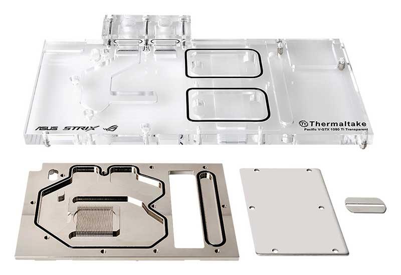 Thermaltake Pacific V-GTX 1080Ti Transparent For ASUS ROG STRIX GTX 1080Ti 水冷|CL-W184-CU00TR-A