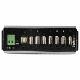StarTech 7ポート産業用USB 2.0ハブ 15kV ESDに対応 直流7V-48V入力対応ターミナルブロック 平面やDINレールへの取付けが可能 メタルハウジング HB20A7AME