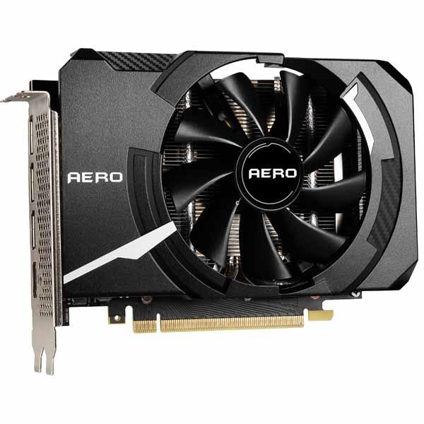 MSI GeForce RTX 3060 Ti AERO ITX 8G OC LHR 小型のオリジナルクーラーを採用したグラフィックスカード