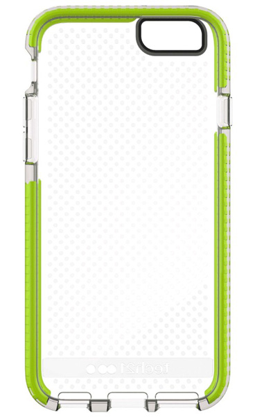 Tech21 Evo Mesh Sport for iPhone6/6s 耐衝撃プロテクトケース Clear/Green(クリア/グリーン)|T21-5078