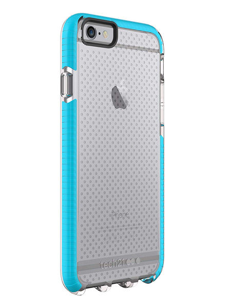 Tech21 Evo Mesh Sport for  iPhone6/6s 耐衝撃プロテクトケース Clear/Blue(クリア/ブルー) T21-5080