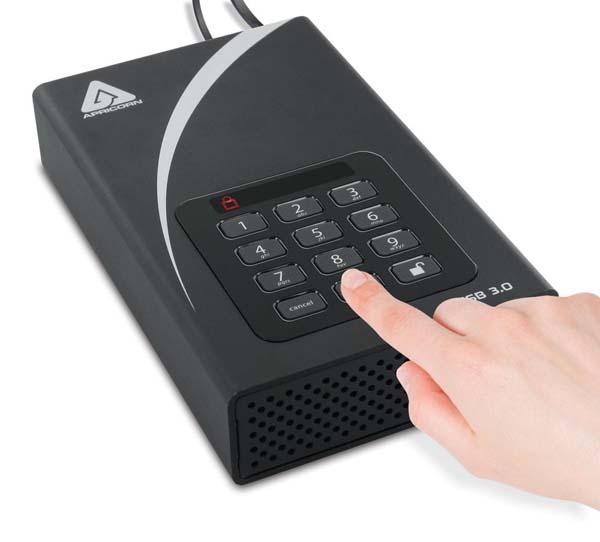 Apricorn Aegis Padlock DT FIPS USB 3.0 暗号化セキュリティ特化 3.5インチ外付けHDD 14TB (FIPS 140-2 Level2認定取得モデル)|ADT-3PL256F-14TB(R2)