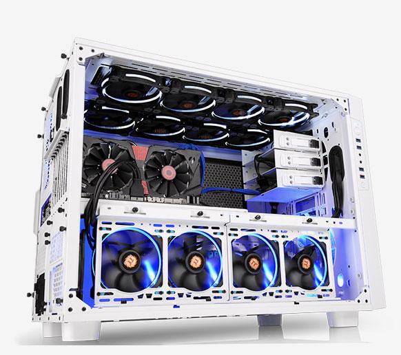 Thermaltake Core X9 Snow Edition 2段スタックに対応したキューブ型PCケース (CA-1D8-00F6WN-00)