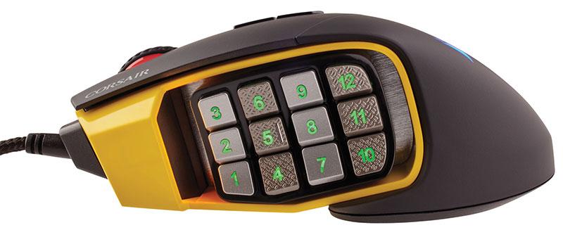 Corsair SCIMITAR PRO RGB イエロー 最大解像度16000dpi ゲーミングマウス |CH-9304011-AP