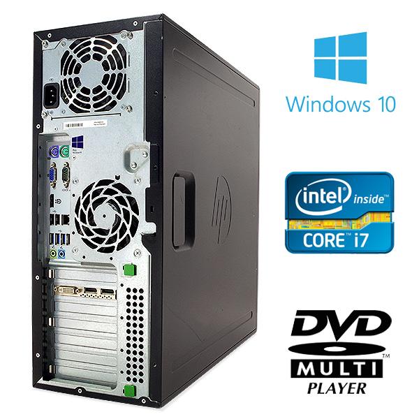 ★デュアルモニタにもできるグラフィック搭載!Corei7×8GBメモリ×SSDの強力性能★ デスクトップパソコン 中古 Office付き 3DCAD ゲーミングPC デュアルモニタ対応 画像編集 Windows10 HP Compaq Elite 8300 CMT 8GBメモリ 中古パソコン 中古デスクトップパソコン