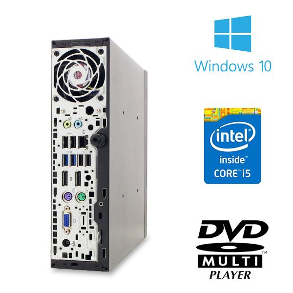 ★なんと新品SSDと8GBメモリの強力性能!hpの高性能ミニデスクトップ×フルHD大画面液晶セット★ デスクトップパソコン 中古 Office付き 8GB 新品SSD フルHD 液晶セット Windows10 HP Elite Desk 800 G1 USDT 8GBメモリ 24型 中古パソコン 中古デスクトップパソコン