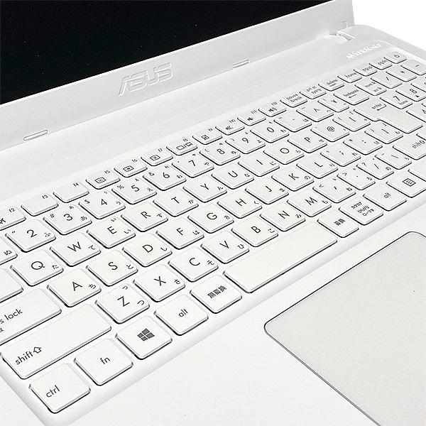 ★キーボードがキレイ!ホワイトカラーがレアなテンキー付きワイドノート!★ ノートパソコン 中古 Office付き ホワイト カラー キーボード キレイ SSD Webカメラ テンキー Windows10 ASUS X540L 4GBメモリ 15.6型 中古パソコン 中古ノートパソコン