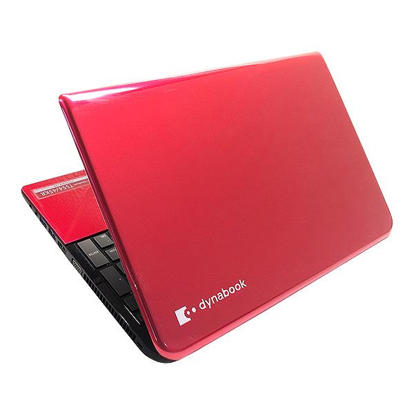 ★レアなモデナレッドカラーでメモリもHDDも大容量!東芝のテンキー付き大画面ノート★ ノートパソコン 中古 Office付き モデナレッド 8GB 大容量HDD テンキー 薄型 Windows10 東芝 dynabook T554/45KR 8GBメモリ 15.6型 中古パソコン 中古ノートパソコン