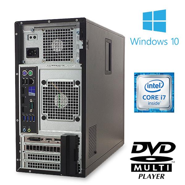 ★今本気でゲームやるならこのグラボ!強力GTX1650を搭載の強力デスクトップ★ デスクトップパソコン 中古 Office付き ゲーミングPC GTX1650 16GB 第6世代 Windows10 DELL Precision 3620 SMT 16GBメモリ 中古パソコン 中古デスクトップパソコン