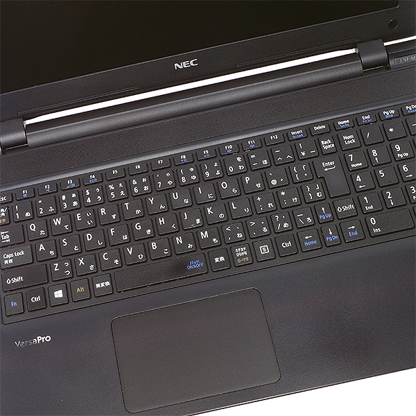 ★人気の光沢ピアノ仕上げ薄型ワイドノート!しかも新品SSD×8GBメモリの強力性能!★ ノートパソコン 中古 Office付き 8GB 新品SSD Webカメラ ピアノ仕上げ テンキー 薄型 Windows10 NEC VersaPro PC-VK17TF-N 8GBメモリ 15.6型 中古パソコン 中古ノートパソコン