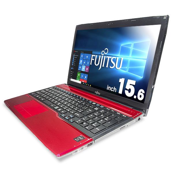 ★レアなルビーレッドカラーでキーボードもキレイ!ブルーレイも焼ける富士通ハイスぺ大画面ノート★ ノートパソコン 中古 Office付き ルビーレッド カラー Blu-ray キーボード キレイ Corei7 8GB 新品SSD Windows10 富士通 LIFEBOOK FMVA53MR 8GBメモリ 15.6型 中古パソコン