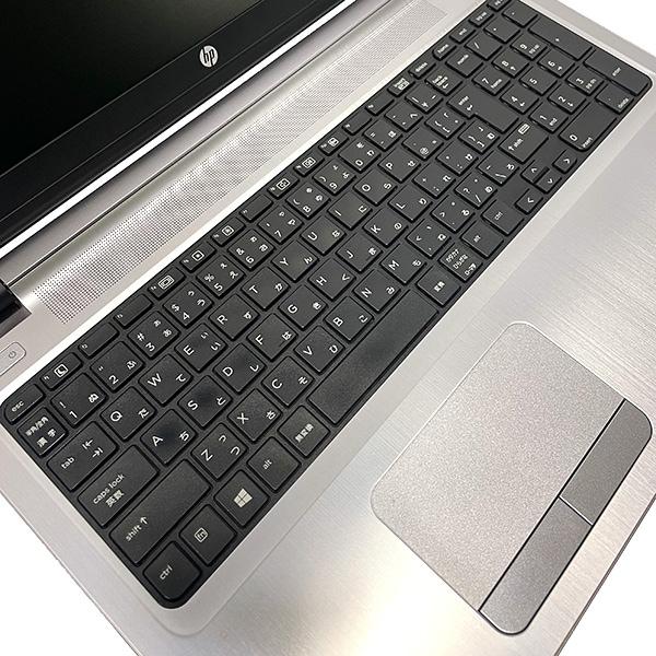 ★新しめ&高性能な第6世代Corei5搭載した薄型人気デザインノート!★ ノートパソコン 中古 Office付き 第6世代Corei5 8GB SSD Webカメラ 薄型 テンキー Windows10 HP ProBook 450 G3 8GBメモリ 15.6型 中古パソコン 中古ノートパソコン
