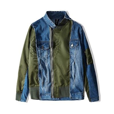 デニムベースMA-1ジャケット
