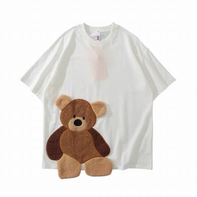 《2色》クマなく愛して!ハミクマモコモコTシャツ