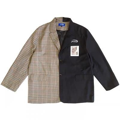 【Lサイズのみ】オーバーサイズアシメ柄ジャケット